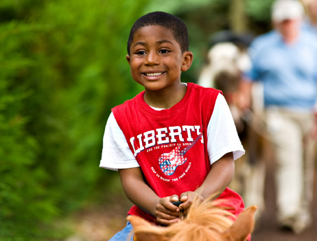 Smiling Happy Kid at Adventure